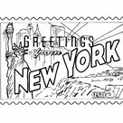 New York State Stamp  - US States Coloring Pages