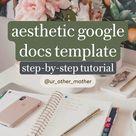 aesthetic google docs template