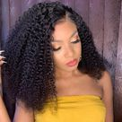 13X4 T Part Lace Front Wig Kinky Curly - 18inch / 150%