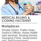 Medical Billing and coding Factsheet.