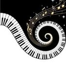 Amazon.com: Piano Keys and Gold Music Notes Stickers: Arts, Crafts ...