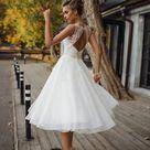 Hochzeitskleid 'STEFANI' / / kurze Hochzeitskleid Tee   Etsy