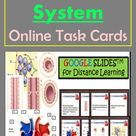 Online Task Cards on Circulatory System of Human Body with Answer Keys for Google ClassroomTM