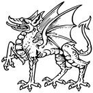 Medieval Dragon Waterproof Temporary Tattoos Lasts 3 to 4 days Choose Small, Medium or Large Sizes - 2 Large Tattoos