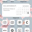 iOS 14 Home Screen ideas, iOS 14 aesthetic, iOS 14 layout ideas, home screen layout iPhone, App icon
