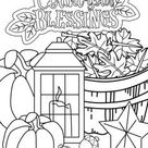 Thanksgiving Coloring Page 5- Coloring Page