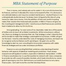Professional MBA Statement of Purpose Examples