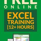 FREE Online Excel Training 12+ Hours   Learn Excel Basic/Advanced