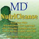 MD NUTRI CLEANSE  Gut Health Detox Probiotics Natural Fiber Support WeightLoss 180 Capsules