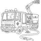 Feuerwehrmann Sam Ausmalbild | Feuerwehrauto
