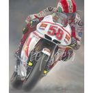 Marco Simoncelli  'Only One 58'  Ltd edition giclee fine art print 158 copies. - 30 x 42cm