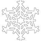 Kostenlose Malvorlage Schneeflocken und Sterne: Schneeflocke 12 zum Ausmalen