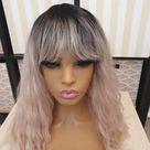 Dalianna Pink wig classic cap, fringe, bangs, baby pink short bob UK wig, cosplay, immediate fast dispatch