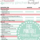 Free Printable Budget Spreadsheet
