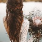 Boho Brautstrauss und Boho Haarfrisuren