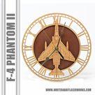 F-4 Phantom II Wooden Wall Clock, Navy, Air Force, Marine, Aircraft Gift, Airplane, Wood Clock, Aviation Gift, Military Gift, Pilot Gift