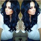 102 Best Midnight blue hair images   Blue hair, Midnight blue hair, Hair