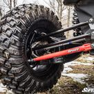 Can Am Maverick X3 Tubed Radius Arms   Lowers in Red   SuperATV