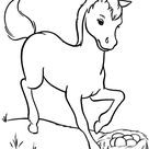 Horse Coloring Pages | Farm horses Coloring Page