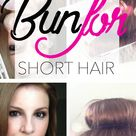 How To: Ballerina Bun For SHORT HAIR!