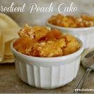 Peach Dump Cakes