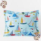 Company Cotton Sailing Regatta Percale Sham - Blue Multi