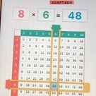 Tabla de multiplicar adaptada