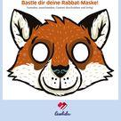 Tiermaske basteln: Rabbat, der Fuchs