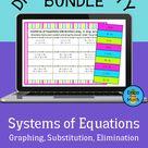 Systems of Equations | Digital Activity Bundle | 5 Digital Activities | Algebra 1