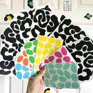 Leopard Print Wall Stickers Rainbow Colours Animal Print Vinyl Wall Stickers Leopard Decal Nursery Wall Art UK