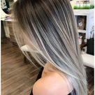 ash blonde highlights on dark hair