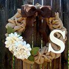 Burlap Wreath Monogram