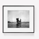 Photo Tenaktak wedding guests, November 13, c1914, Edward S. Curtis, canoe, bea