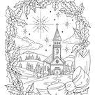 Descarga instantánea de página para colorear de Navidad adulto   Etsy