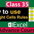 Hello Friends in this lecture we will cover How to use Conditional Formatting  Highlight Cells Rules Options in Excel.