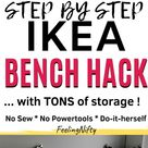 IKEA Kallax Hack: Turn Bookshelf into a Seating Bench with Storage {DIY}