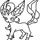 Leafeon Cute Coloring Page - Free Printable Coloring Pages for Kids