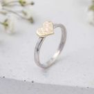 Gold heart ring   Y1/2