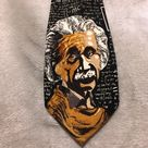 Albert Einstein E=MC2 Science Tie Excellent condition  Men's tie Albert Einstein on front Rest of Tie is covered in formulas including E=MC2 Accessories Ties