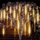 Decorative Snowfall LED Lights   WARM WHITE 48 LIGHT WICKS / US/CANADA Plug