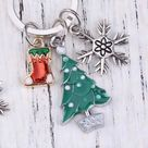 Charms Cute Tree Snowflake Stocking harm Keyring  Elf On  Shelf   Someone Special, Best Friend, Family.