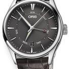 Oris Artelier Pointer Date 01 755 7742 4053-07 5 21 65FC Men's 40mm Watch in Grey, Steel by Exquisite Timepieces