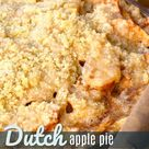 Dutch Apple Pie with Sweet Buttery Crumb Topping