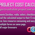 Project Cost Calculator (PCC) jQuery Plugin by satish100
