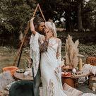 A Bohemian Styled Wedding Shoot With Rue De Seine Dresses | Festival Brides