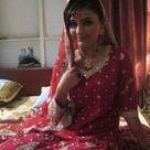 Beautiful Pakistani Girl in Red saree