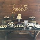 Sweets sign // Wood Wedding Decor // Wedding Signs // Wedding | Etsy