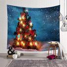 Beautiful Xmas Tree Tapestry - 150x130cm