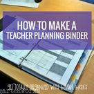 How to Make a Teacher Planning Binder {Binder Basics}