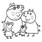 Peppa Pig kleurplaten → Leuk voor kids